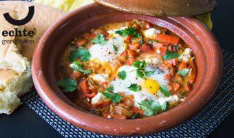 Recept voor Midden-Oosterse Shakshuka op z'n Marokkaans