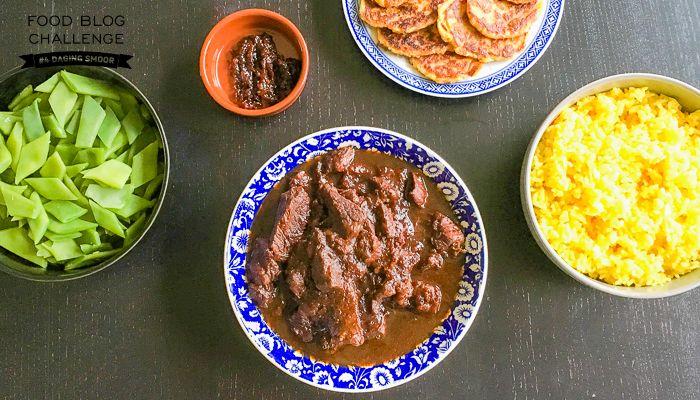 indisch of indonesisch koken: daging smoor met nasi koening