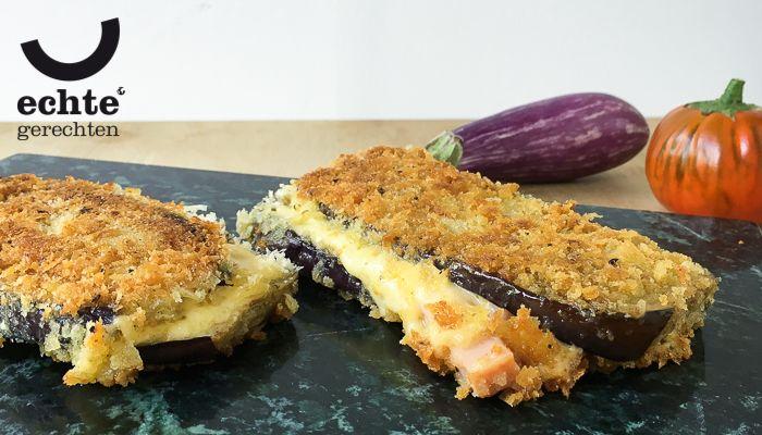 Italiaanse aubergine cordon bleu