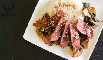 Maak deze biefstuk teriyaki en je wilt nooit meer een Japans wereldgerecht uit een pak
