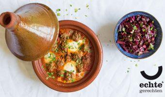Marokkaanse tajine met gehaktballetjes in tomatensaus