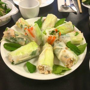 Catering Vietnamese springrolls