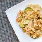 Italiaanse risotto met kip en courgette