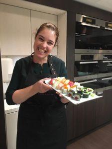 Marjolein de Bruijn in het Okura Hotel