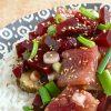 Poke Bowl met haring en rode biet