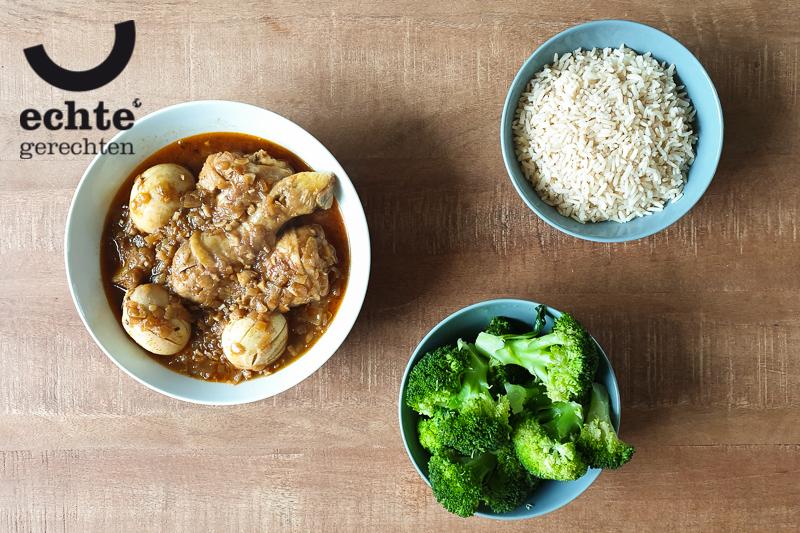 Tsebhi Dorho oftewel kip en ei in een saus met veel berbere